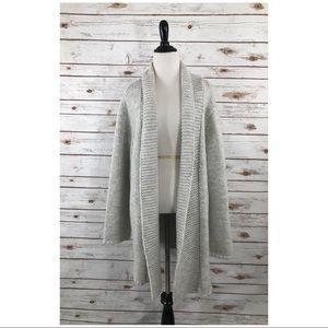 J JILL Gray Alpaca Blend Long Cardigan XL